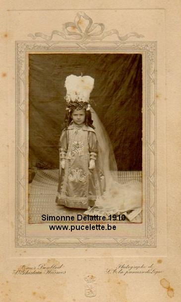 Photo de la Pucelette de Wasmes 1910