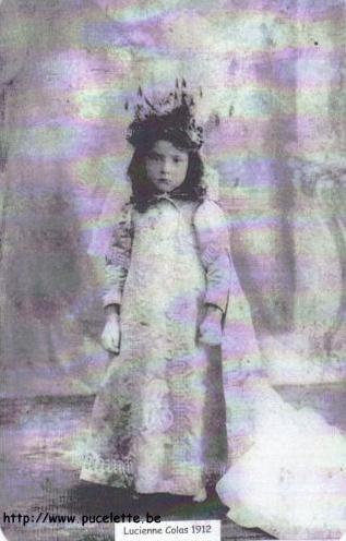 Photo de la Pucelette de Wasmes 1912