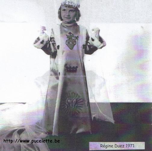 Photo de la Pucelette de Wasmes 1971